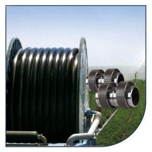 PE slanger og slangesamlere for vandingsmaskiner