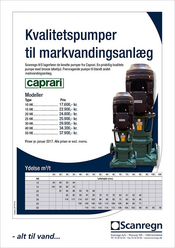 Caprari pumpe - Produktblad fra Scanregn A/S
