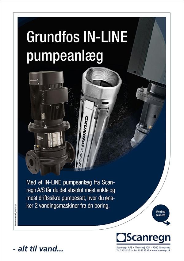 Grundfos IN-LINE pumpeanlæg - Produktblad fra Scanregn A/S
