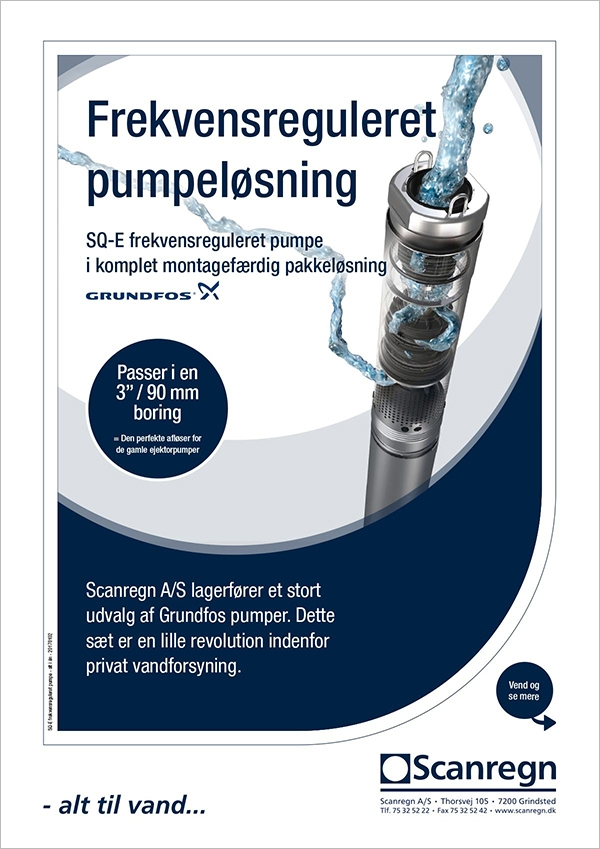 Grundfos SQ-E frekvensreguleret pumpe - Produktblad fra Scanregn A/S