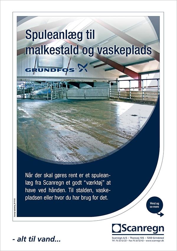 Grundfos spuleanlæg - Produktblad fra Scanregn A/S