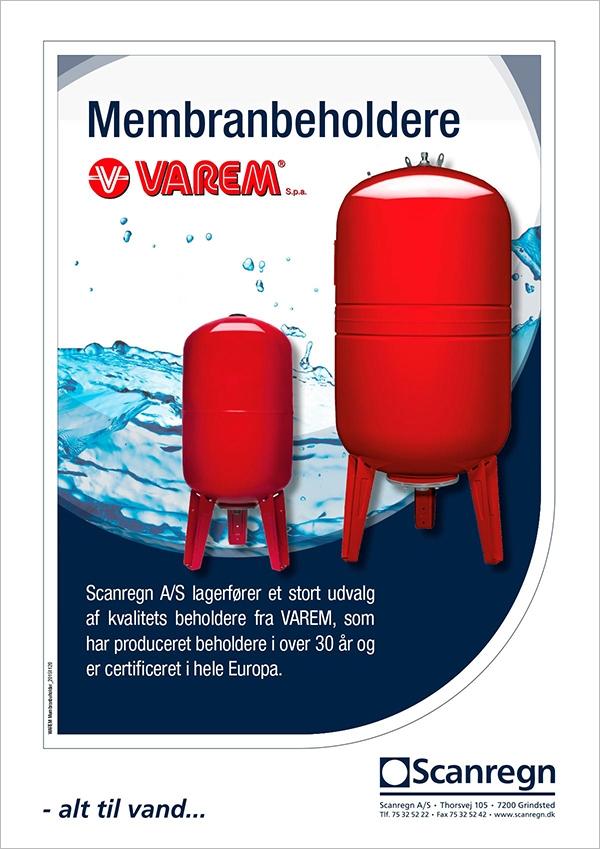 Varem membranbeholder - Produktblad fra Scanregn A/S