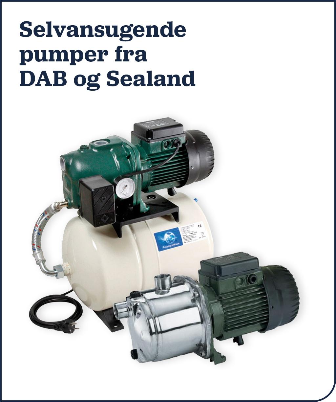 Selvansugende pumper fra DAB og Sealand
