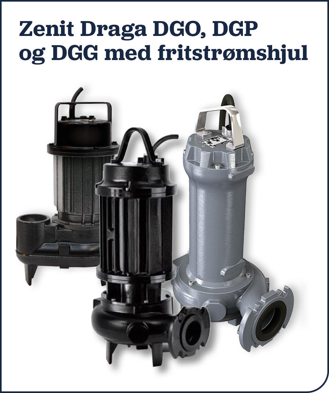 Zenit Draga DGO, DGP og DGG med fritstrømshjul