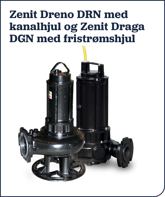 Zenit Dreno DRN med kanalhjul og Zenit Draga DGN med fristrømshjul