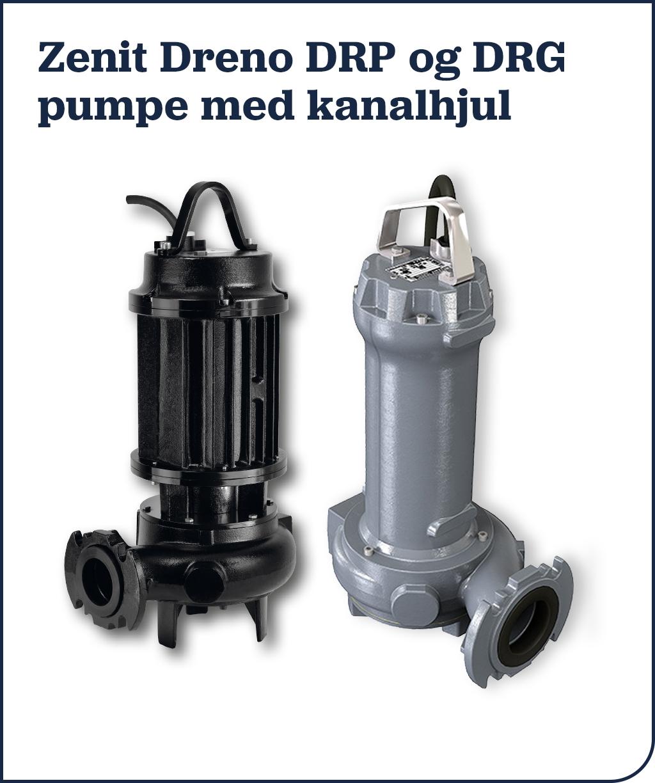 Zenit Dreno DRP og DRG pumpe med kanalhjul