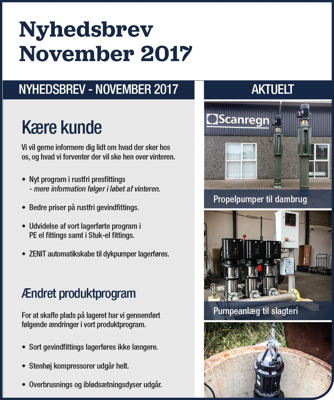 Nyhedsbrev - November 2017