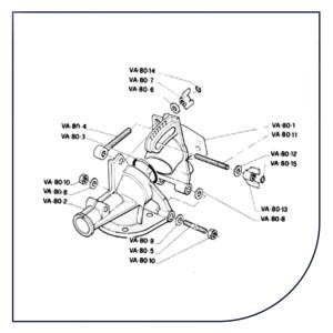 Resservedele til vandingskanoner fra Komet, Sime og Nelson