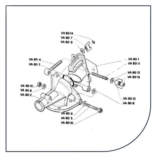 Reservedele til vandingskanoner fra Komet, Sime og Nelson