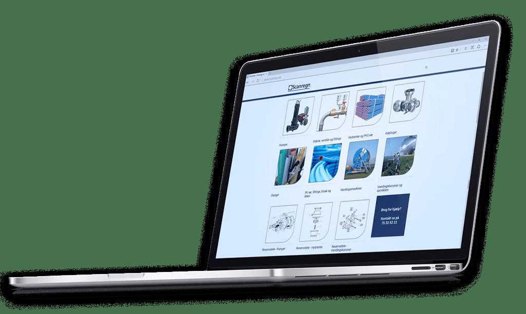 Onlinebestilling i webshop hos Scanregn