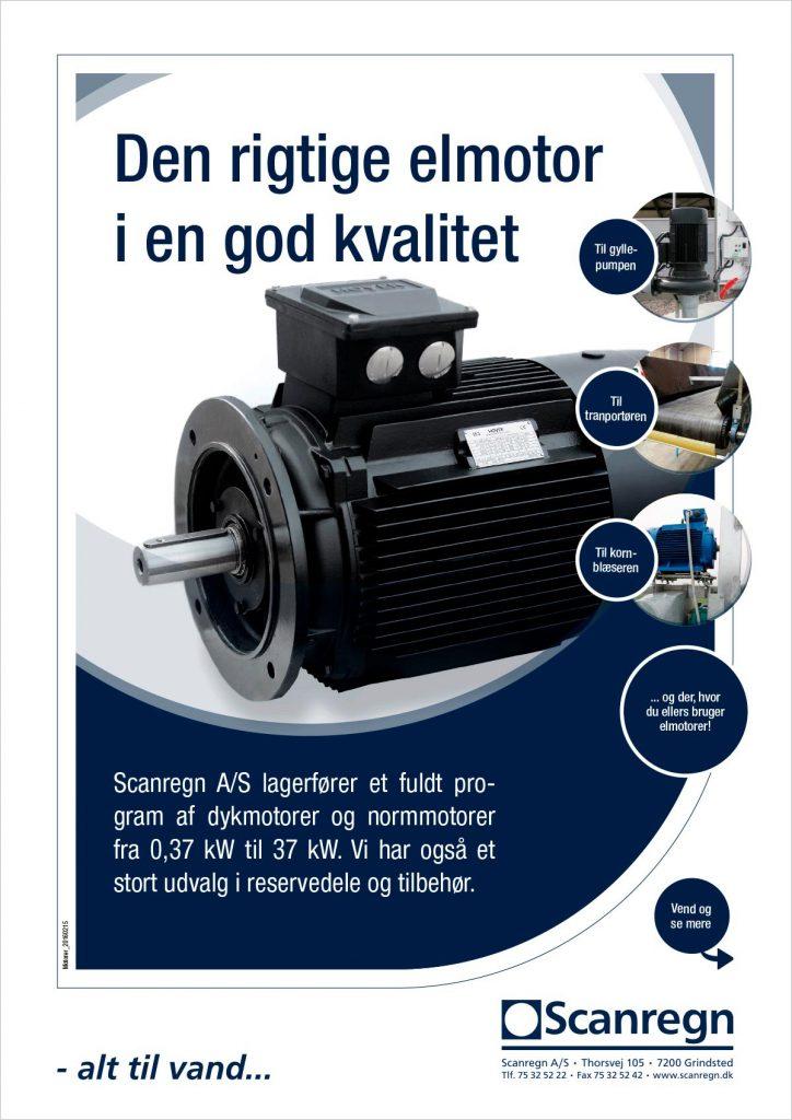 Elmotorer - Produktblad fra Scanregn A/S