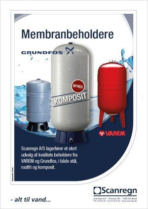 Membranbeholdere fra Grundfos og Varem med udskiftelig membran