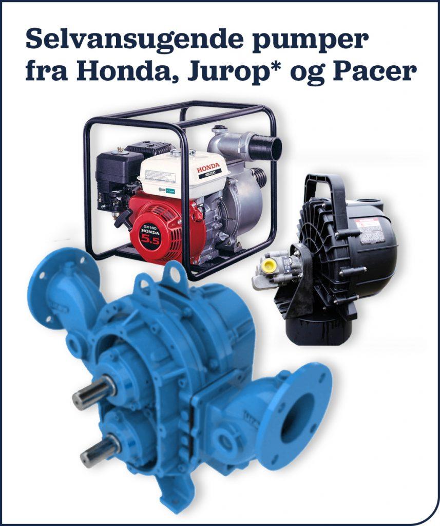 Selvansugende pumper fra Honda, Jurop* og Pacer