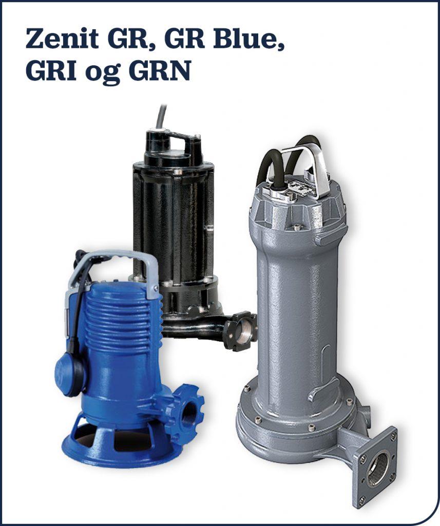 Zenit GR, GR Blue, GRI og GRN