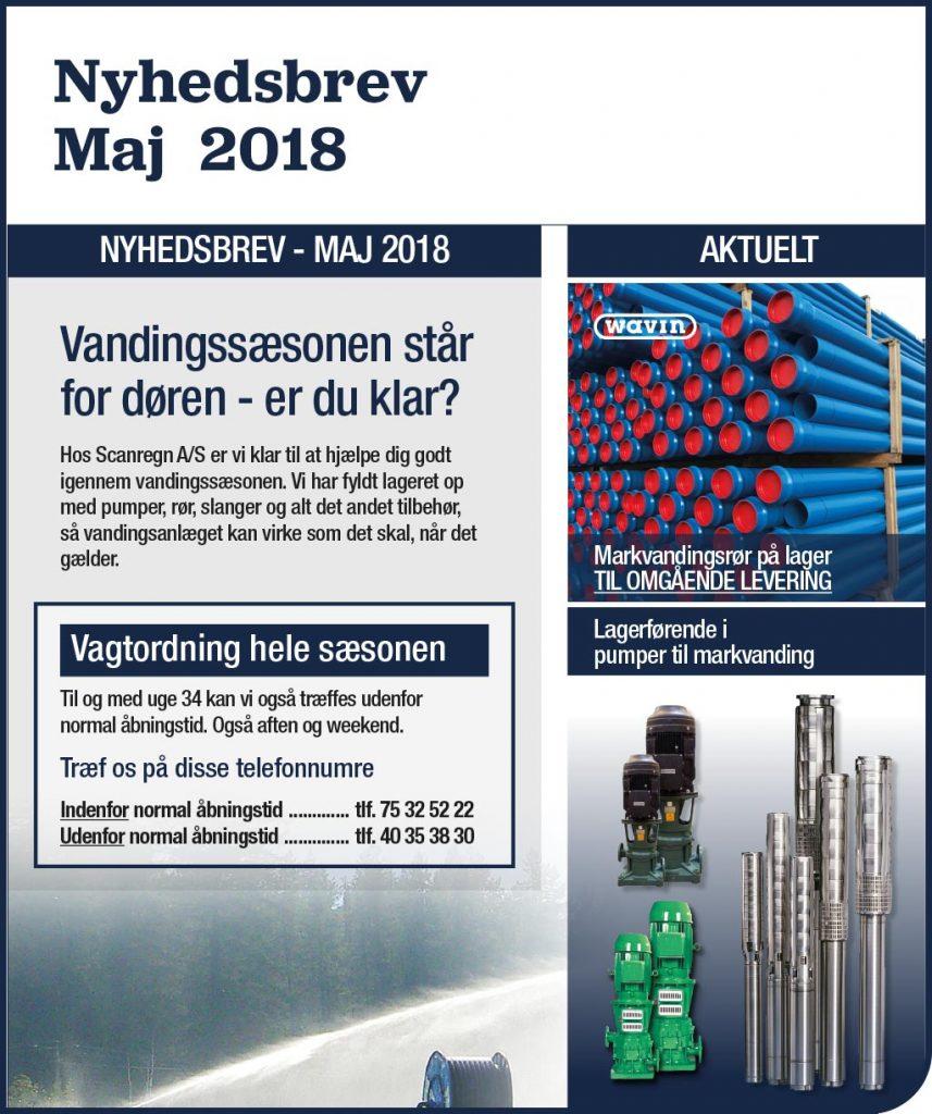 Nyhedsbrev - Maj 2018