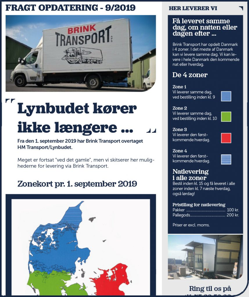 Transport opdatering - September 2019